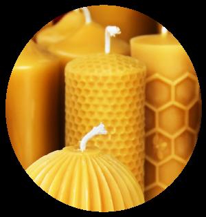 Candele in cera d'api